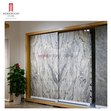 Bookmatch Marble 12mm Large Porcelain Tile Wall