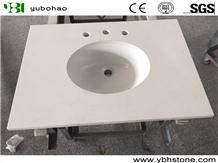 Aran White/Polished Marble Vanity Top for Bathroom