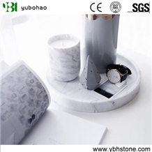 Bianco Carrara/White Marble Honed Bothroom Holders