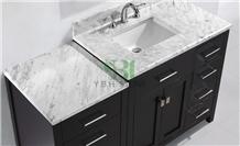 Bianco Carrara White Marble Polished Honed Top