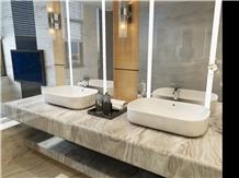 Golden Sand,Beige Marble Bathroom Sinks Vanity Top