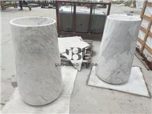 Italian Bianco Carrara White Bathroom Wash Basins