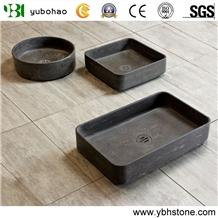 Lava Stone/Black Basalt Polished Basin Of Bathroom