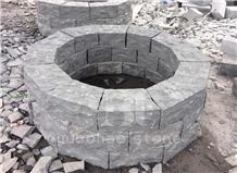 Sesame White/G654, Black Stone Cube/Paver Stone