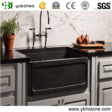 Shanxi Black/Black Granite Farm Sink for Kitchen
