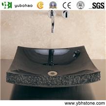 Shanxi Black/Black Polish Stone Basin for Bathroom