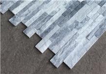 White Quartzite& Silver Grey Slate Z Shape Walling