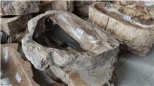 Natural Petrified Wood Sink, Petrified Wood Wash Basins