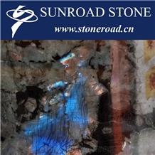 Blue Ice Jade Granite Slabs Blue Luxury Granite