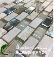 Wholesale Glass with Marble Mosaic Tile