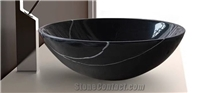 Back&White Marble Round Wash Basins Bowls Sinks