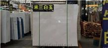 Hot Sell Polished Big White Slab&Tile, Slab &Tile