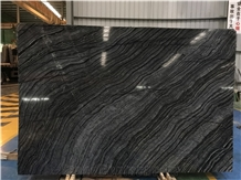 Natural Black Stone with Wooden Vein, Natural Stone