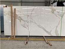Calacatta White Marble with Honeycomb Panel