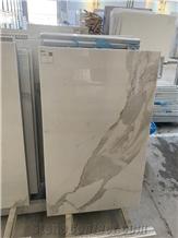 Calacatta White Marble with Honeycomb Panels