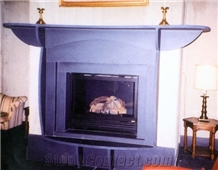 Pennsylvania Black Slate Interior Fireplace