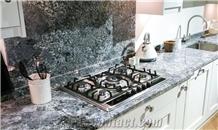 Azul Aran Granite Kitchen Countertop, Island Tops