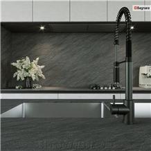Carbon Grey Quartzite Kitchen Countertop, Island Top