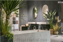 Portland Grey Limestone Bathtub