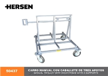 Hersen 50437 Manual Trolley with Galvanized Stand Frame with 3 Support