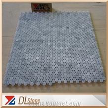 Carrara White Marble Mosaic Oval Penny Mosaic Tile