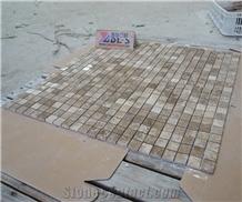 Emperador Light Marble Backsplash Mosaic Tile