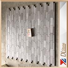 Honed White Oak Marble Mosaic Brick Tile