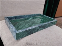 Green Marble Craft Honed Rectangle Towel Tray Hotel Design