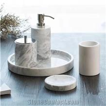 Marble Set Soap Dish Premium Dispenser Bathroom Accessories