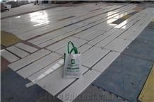 Natural New Ariston White Marble Interior Flooring Paving