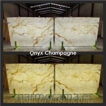 Champagne Onyx Slabs