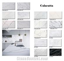 China Carrara White Quartz Slabs