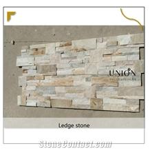 Beige Format Slate Thin Wall Ledge Stone Veneer Cladding Dec