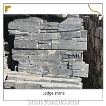 Cultural Black-Slate-Slabs Cement Stacked Stone Z Panel Tile
