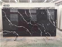 Black Quartz Surface Quartz Stone Slab for Kitchen Counter Top