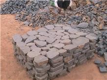 Unordely Conbination Stone Black Basalt Paving