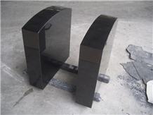 China Factory Shanxi Black Granite Headstone
