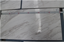 Greek Volakas White Marble for Interior Flooring Tiles Dec.