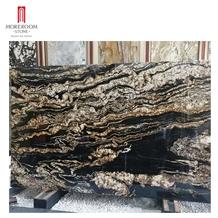 Black Galaxy Granite Stone Tile for Kitchen Countertop