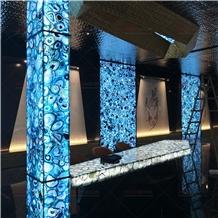 Blue Agate Slab Wall Countertop Backsplash Tile