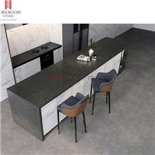 Grey Large Size Sintered Stone Kitchen Countertops
