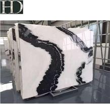 China Chinese Panda White Marble Polish Slab &Tile