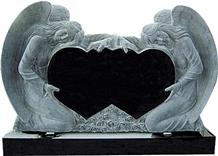 Double Angel Heart Monument,Gravestone,Headstone