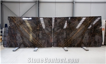 Grey Fantasy Marble Slabs 2 Cm, Bookmatched