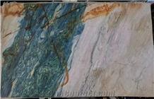 Luxury Multicolor Portomare Green Quartzite Slabs