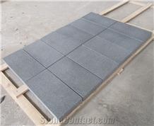Australia Ken Black Granite Flamed Pavers Tiles