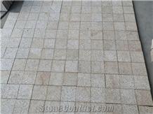 Bush Hammered Granite Cubes Stone Pavers Cobbles