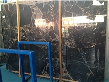 Chinese Nero Black Portoro Marble,Slabs&Tiles