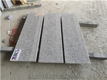 New G664 Granite Stair Treads Anti Slip Cutting