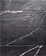 Black Nero Marquina Marble Unique Water Wave Design for Deco
